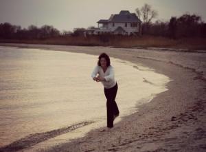 Doreen yoga on beach